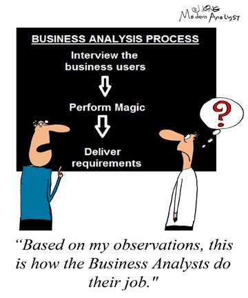 Humor - Cartoon What the Business Analysis Process Looks Like - what is business analysis