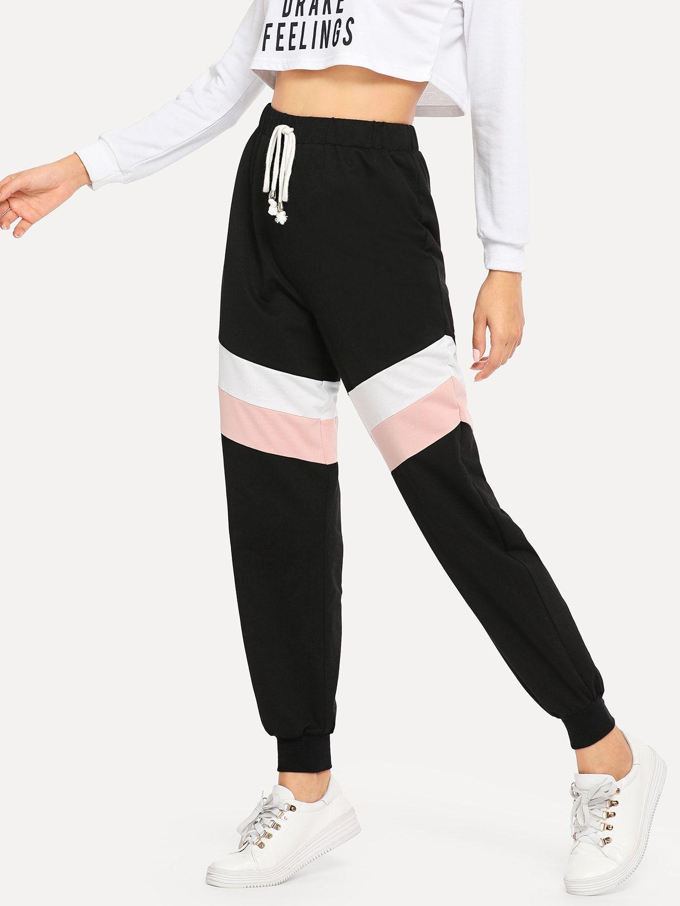 Pantalones Deportivos Color Block Pantalones Adidas Mujer Moda De Ropa Ropa Para Ninas Fashion