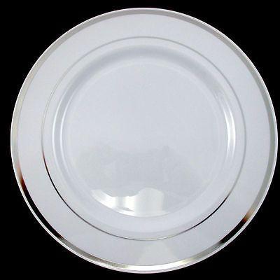 Bulk, Dinner / Wedding Disposable Plastic Plates & silverware, white ...