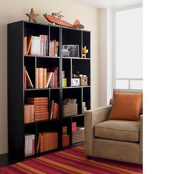 Shift Black 74 Bookcase In Media Stands Consoles