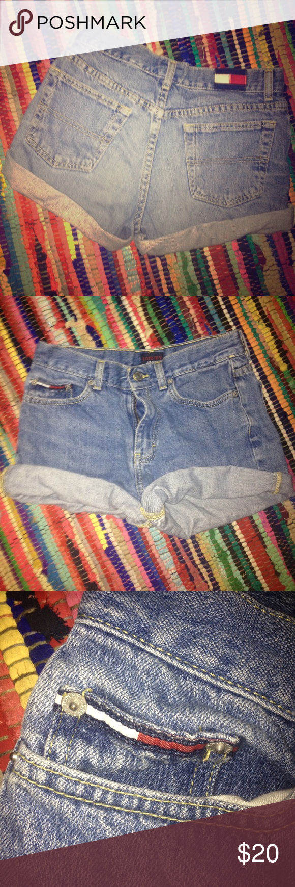 Vintage Tommy Shorts Great condition! Super cute vintage shorts! Tommy Hilfiger Shorts Jean Shorts