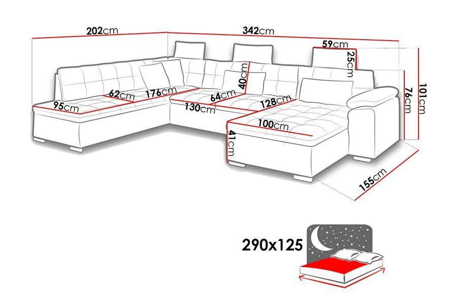 ab4c840066aa5b Canapé d angle convertible en u Alta II - chloe design   canape ...