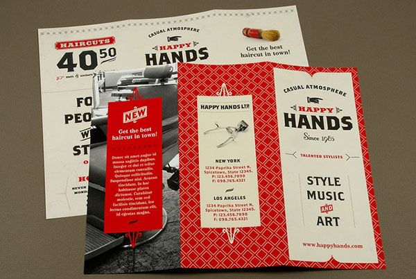 15 Awesome Retro Vintage Style Brochure Designs Barbershop - pamphlet layout