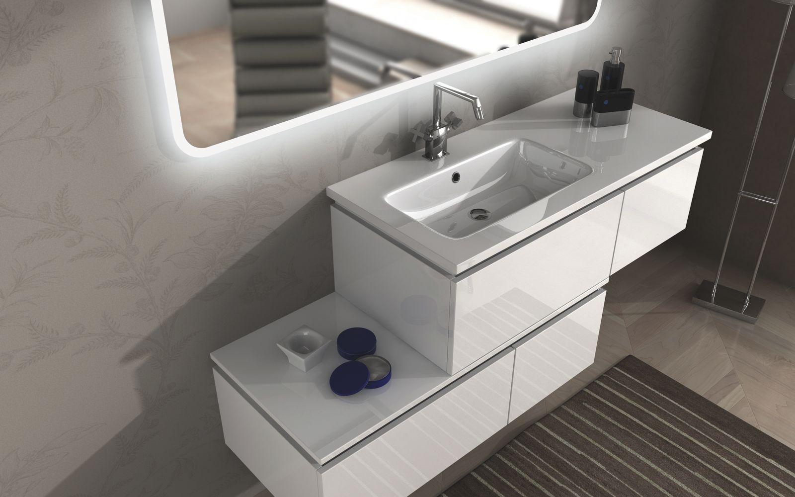 Mobili bagno da 101 a 220 cm : Mobile bagno Avon cm 100 + 110 120 ...