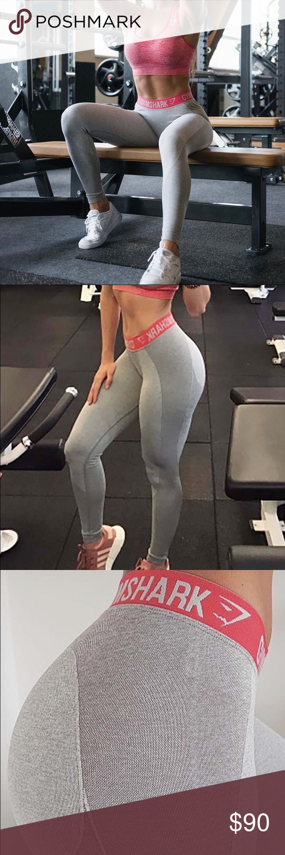 877e42eb0e6b4 Gymshark Flex Leggings Light Grey Marl/Sherbet Pink in a size XS sold out  online. Just ordered so will be arriving in a week or so!