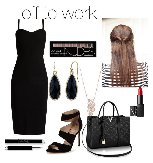 """""""off to work"""" by cjflynn on Polyvore featuring MaxMara, Carvela, 1928, Charlotte Russe and NARS Cosmetics"""