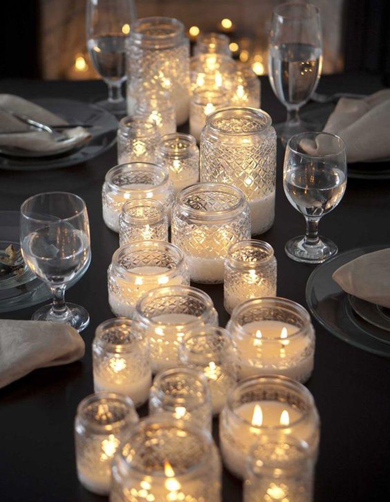 decoration de table hiver multipliez les lumieres indirectes