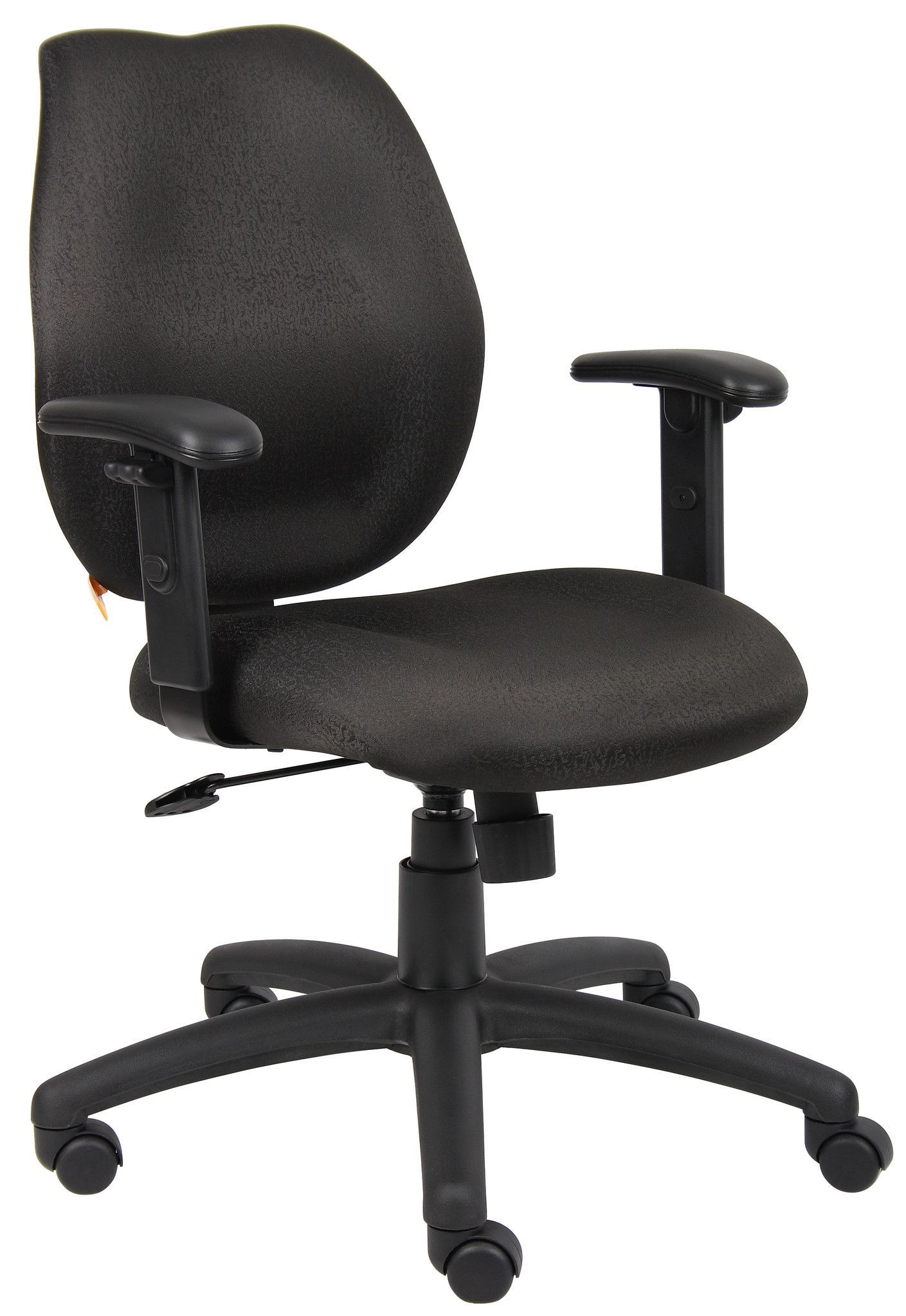 Boss task chair with adj arms black midback styling