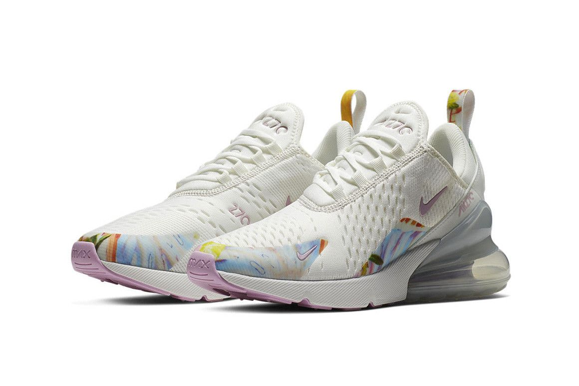 Nike S Air Max 270 Gets Floral In Summit White Arctic Pink Nike Air Max Nike Sneakers Outfit Nike Air Max For Women