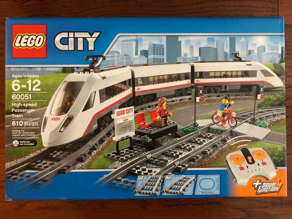 Lego 60051 City High Speed Passenger Train New Sealed Box Lego City Lego Trains Lego City Cargo Train