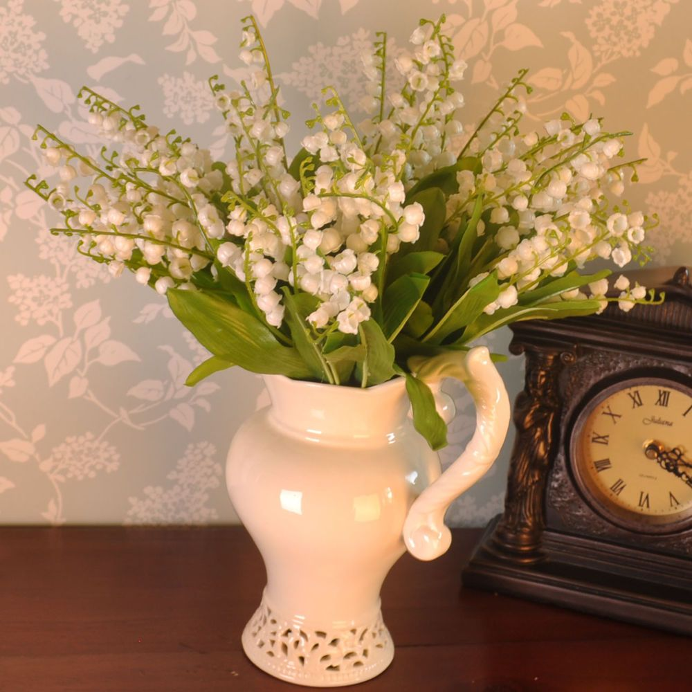 Artificial flowers lily of the valley bunch wedding home outdoor artificial flowers lily of the valley bunch wedding home outdoor izmirmasajfo