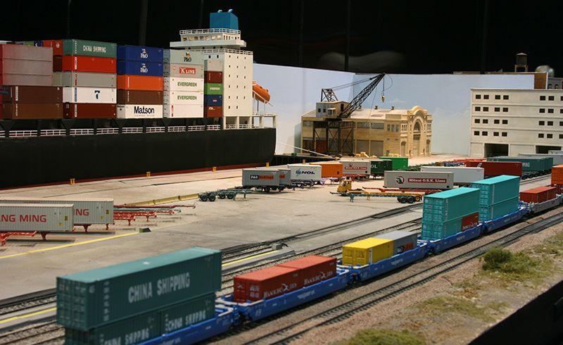 Container Yard Model Trains Model Train Layouts Model Railroad