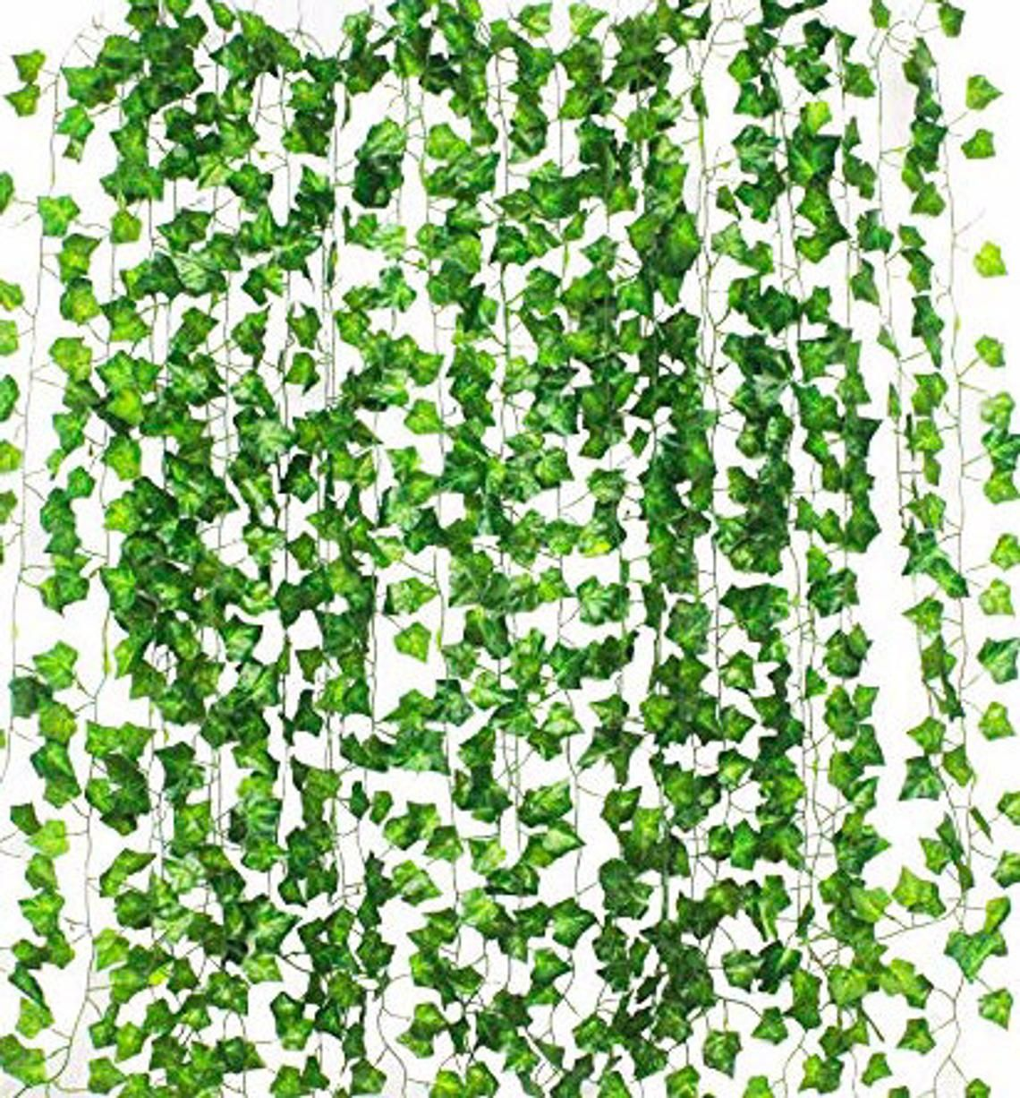 24 Pack (Each 79 Inches long) (Total 158Ft)Artificial Vines, Artificial Eucalyptus Leaf Garland DIY Greek Wild Jungle Decorative Botanical #leafgarland