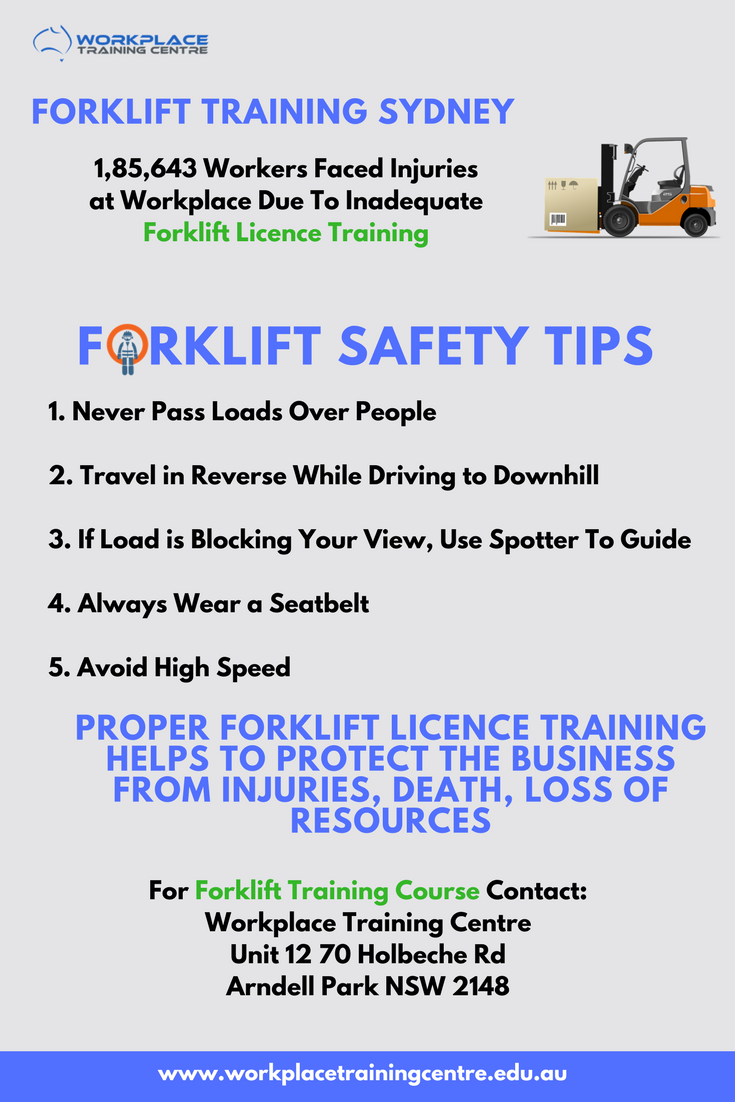 Workplace Training Centre Provides Nationally Recognized Forklift