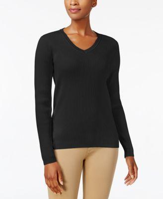 eaf6fe763b0 Karen Scott Cotton V-Neck Sweater