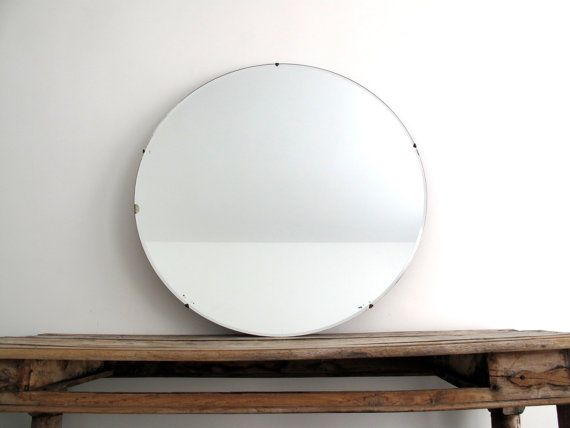 Vintage Large Round Wall Mirror 30 Frameless By SnapshotVintage 22000