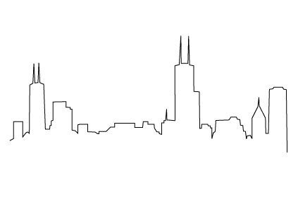 Chicago Skyline Drawing Chicago Skyline Drawing Thinking Of