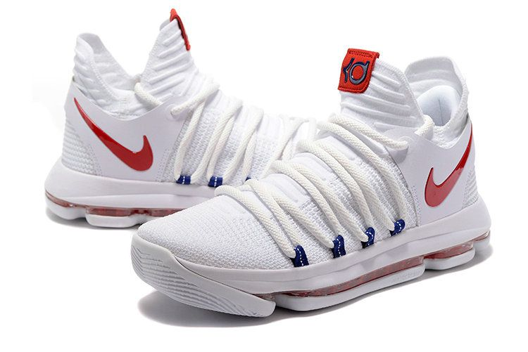 wholesale dealer 04640 f8392 Nike KD 10 Authentic White Red. Nike KD 10 Authentic White Red Kevin Durant  Shoes, Air Max ...