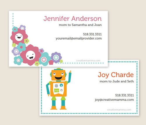 Mommy Business Cards To Help Set Up Play Dates The Boys Are - Business card template free printable