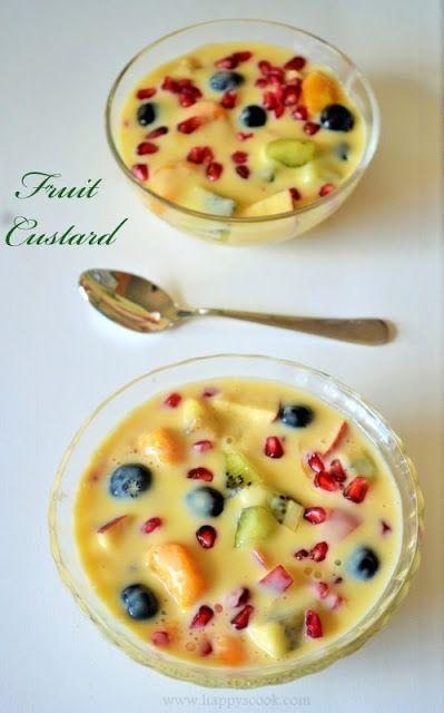 Fruit Custard Recipe | Mixed Fruit Custard | Fruit Salad ...