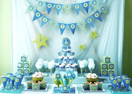 Ocean baby shower google search baby shower for Baby full month decoration ideas