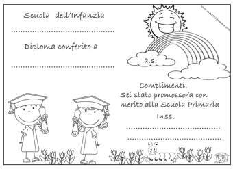 Diplomi e attestati congedo scuola for Maestra gemma scuola dell infanzia