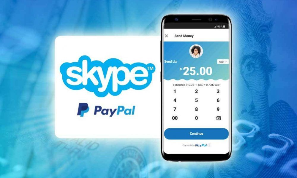 Make payment via Paypal through Skype's conversation list