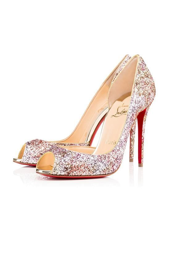 983fac1d04 Demi Yous elegant half-dOrsay, open toe silhouette by Christian Louboutin  is gorgeous for your big day.