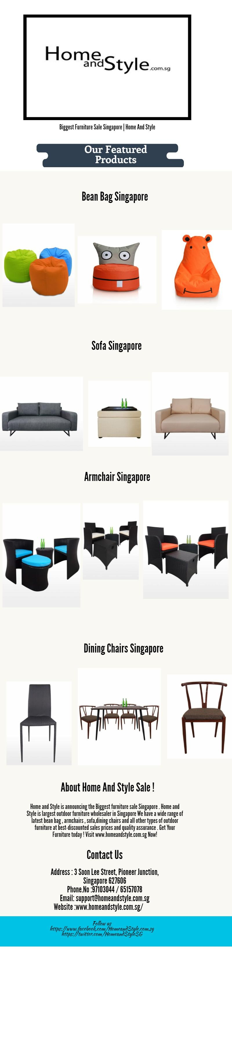 Home and style is announcing the biggest furniture sale singapore