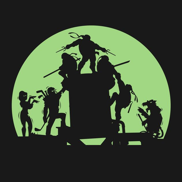 Teenage Mutant Ninja Turtles Silhouette