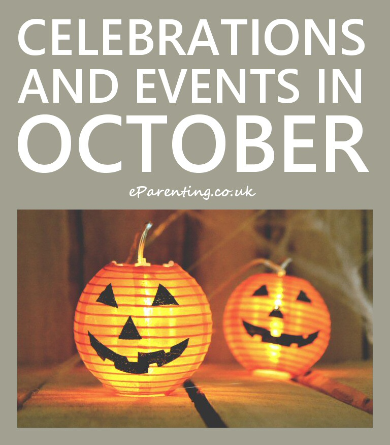 Celebrations and Events in October 2020 October events
