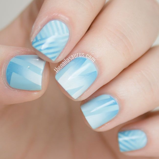 Uk Nail Art Blog Nail Art With Bite: Snippet: Blue Gradient Stamping