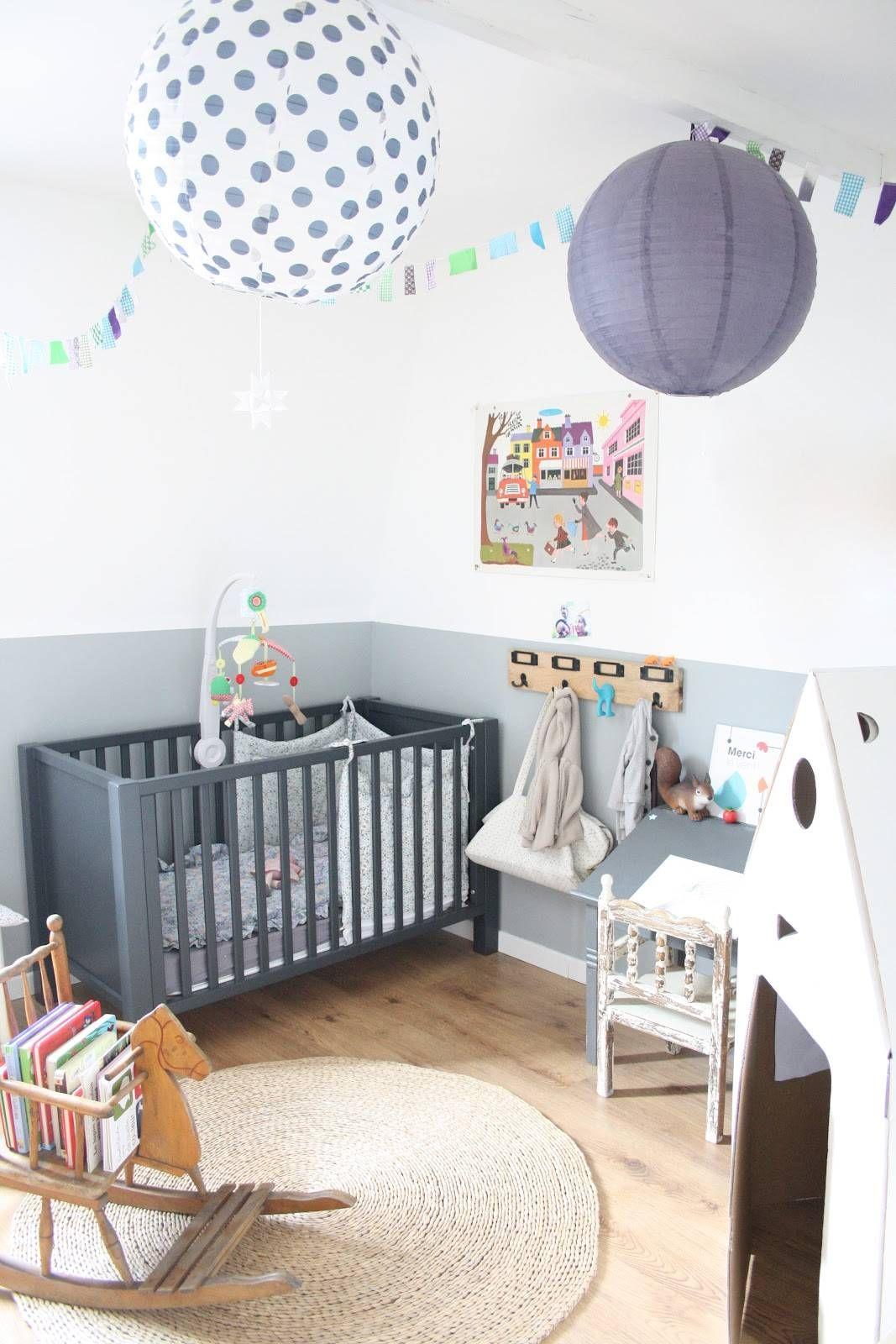 Dormitorio para niño en estilo vintage ¡juega con el gris