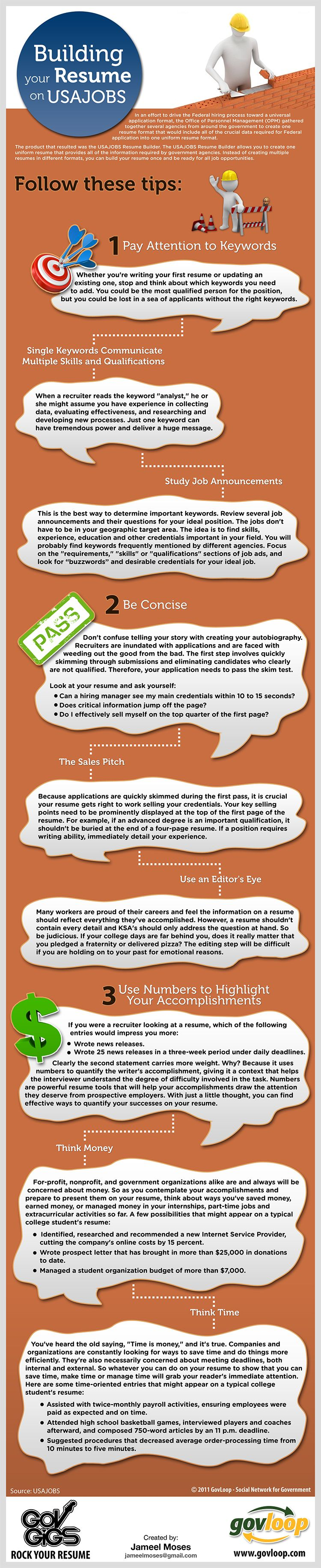 Rock Your Resume USAJOBSStyle Infograph to help job seekers