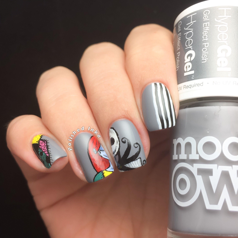 Polished Inka - Nightmare before Christmas nail art http ...