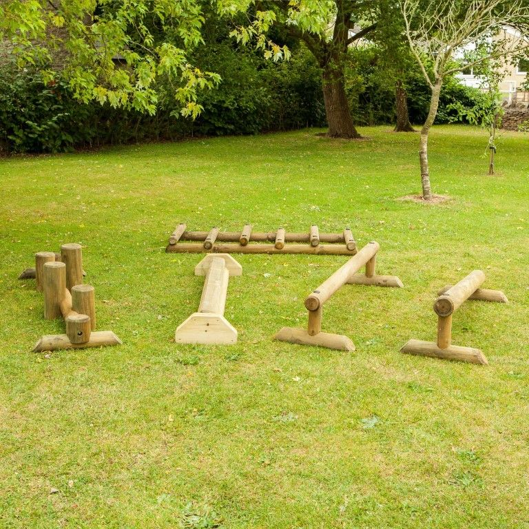 The 5 piece free-standing trail set is great for settings looking for a flexible solution to fundamental movement skill development. Buy it now!