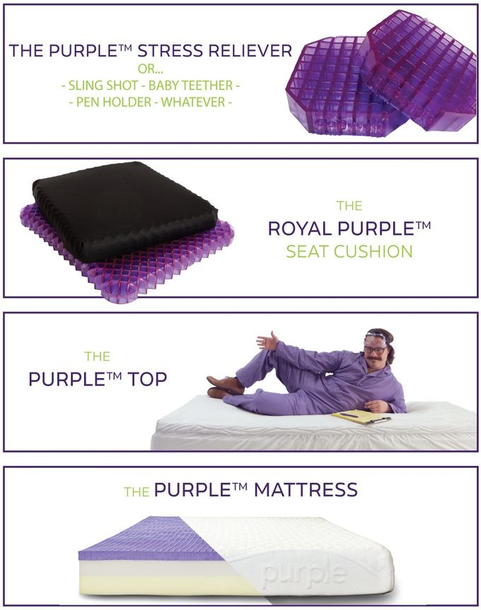 Purple Is The Latest Innovation In Sleep And Comfort Technology