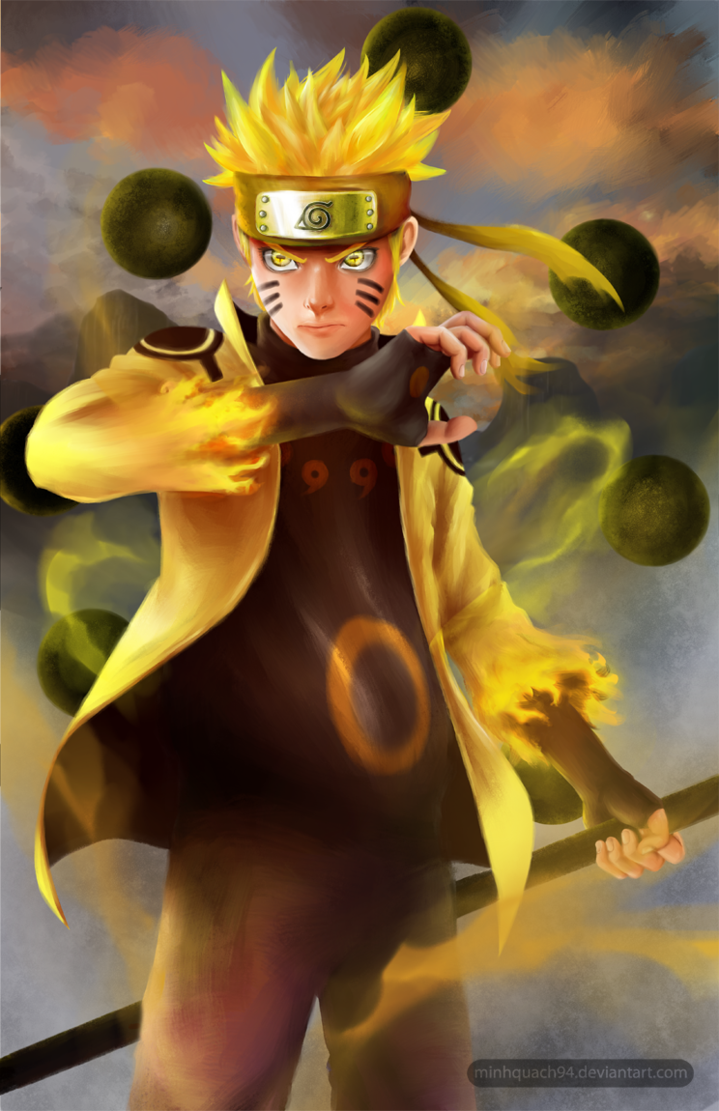 Naruto Six Paths Sage Mode By Minhquach94 With Images Naruto