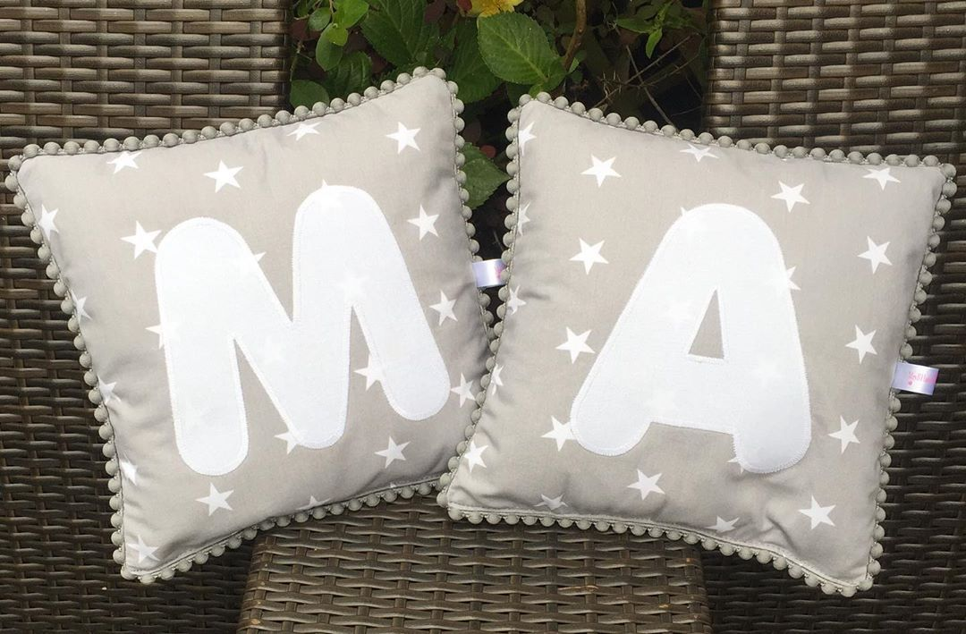 Two Lovely Grey Stars Personalised