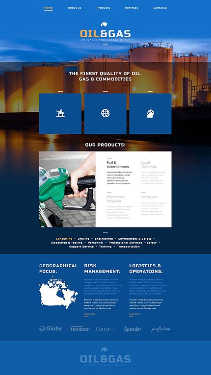 Template 52502 Ensegna Themes Website Template Oil And Gas Website Template Design