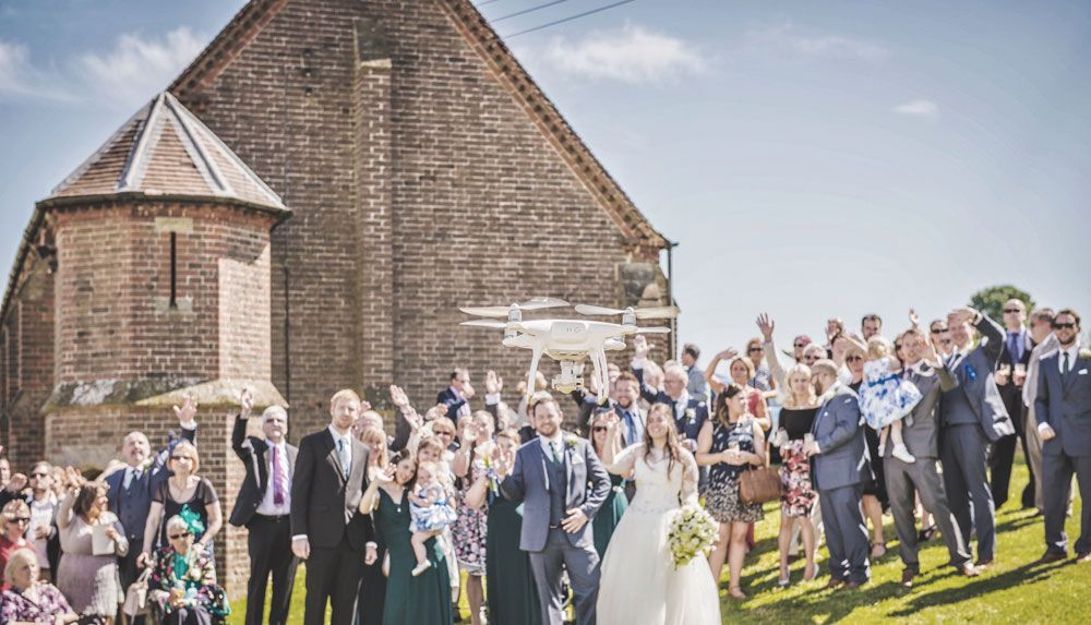 Thanks to the ever changing world of technology, today's drones can capture truly spectacular aerial wedding photographs that you'll want to treasure forever