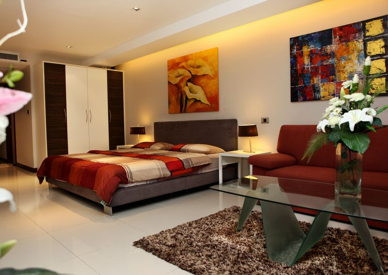 Studio Apartment Modern With Beautiful Decoration Jpg