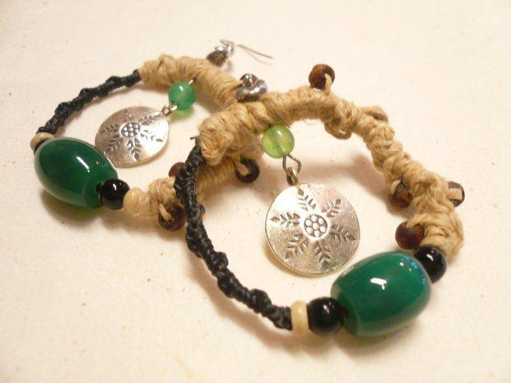 handmade KAREN silver earrings