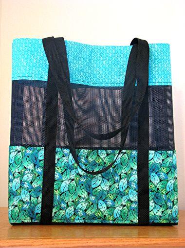 Vinyl Mesh Beach Bag Bag Patterns To Sew Beach Bag