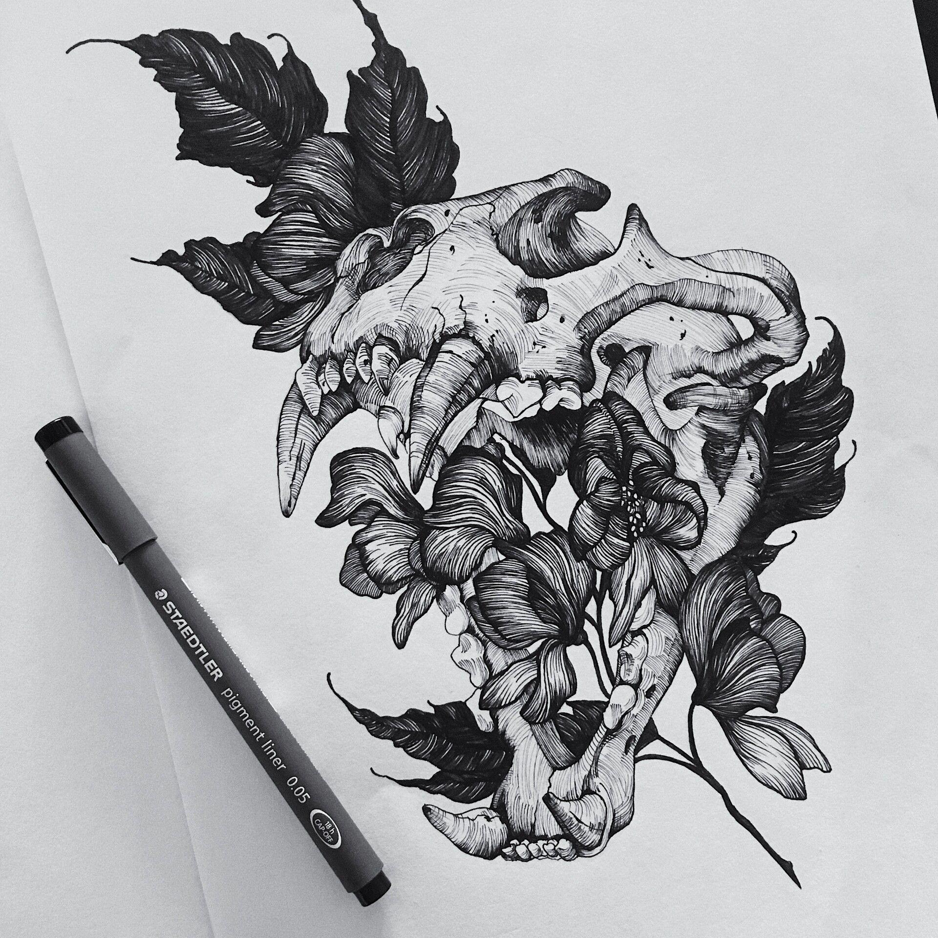 Artstation pen ink drawings kendra voyce ink pen