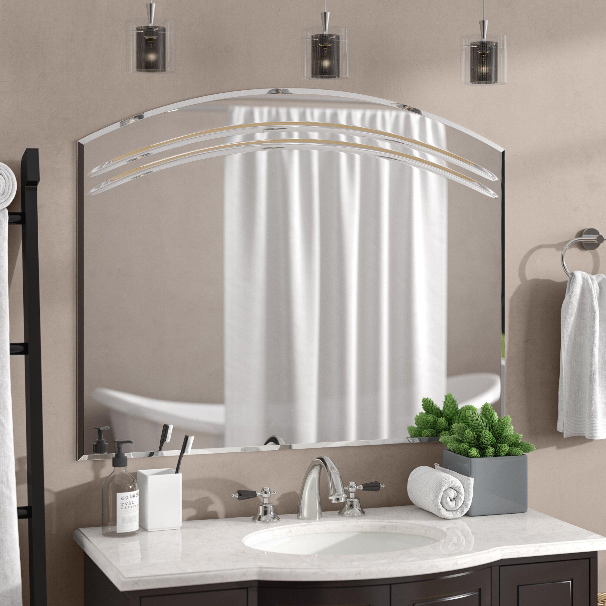 24 Frameless Mirror Ideas And Lighting Glass Vanity Restroom Bathroom Wall Decor Diy Mirror Wall Bathroom Mirror Wall