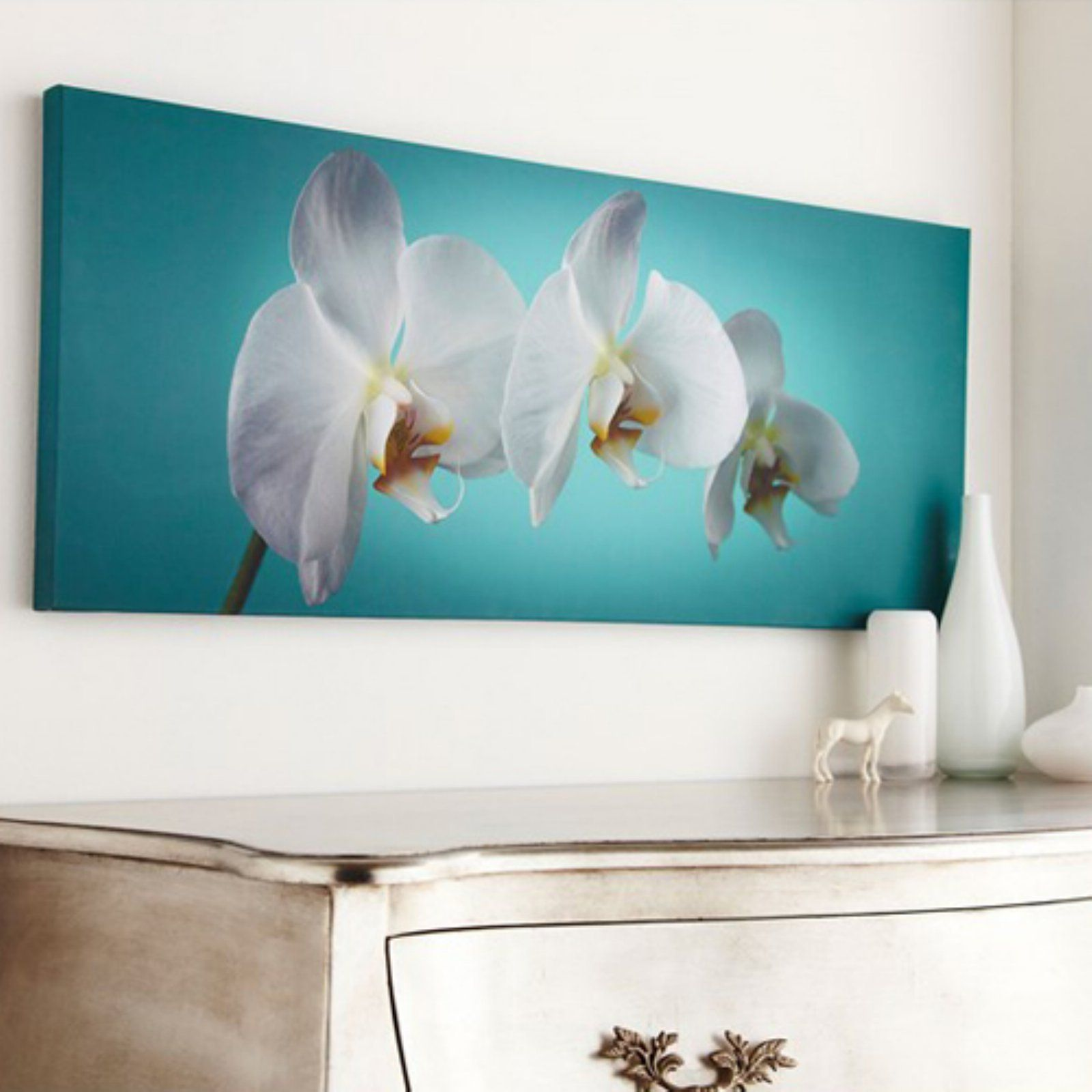 Amazon.com - Teal Orchid Canvas - Wall Decor Stickers | Master ...