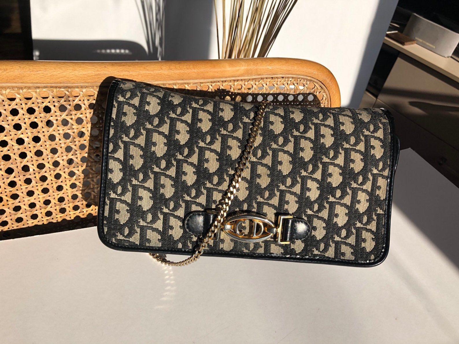 Black Dior Clutch Bag