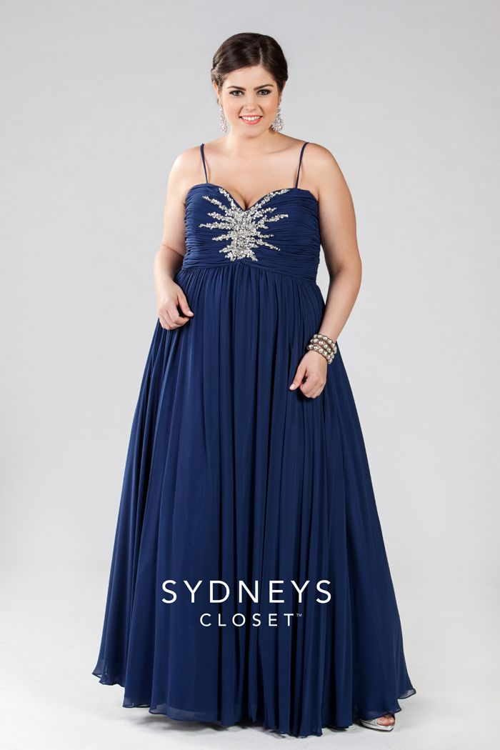 Figure Flattering Beaded Plus Size Formal Sydneys Closet