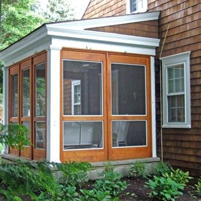 This 3 season porch system is easy to do and will provide for Prefab screened porches